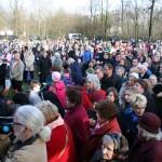 Pielgrzymi, których przybyło ok. 800 osób